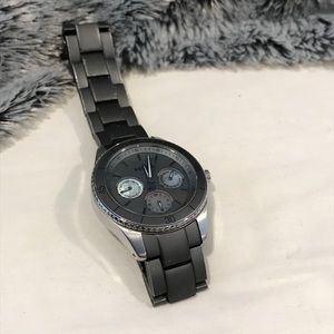 Fossil watch in silver and dark gray